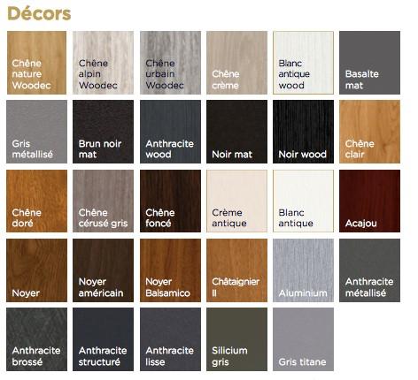 Coloris Disponibles Fenetres Pvc