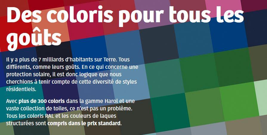 Coloris Store Banne Harol